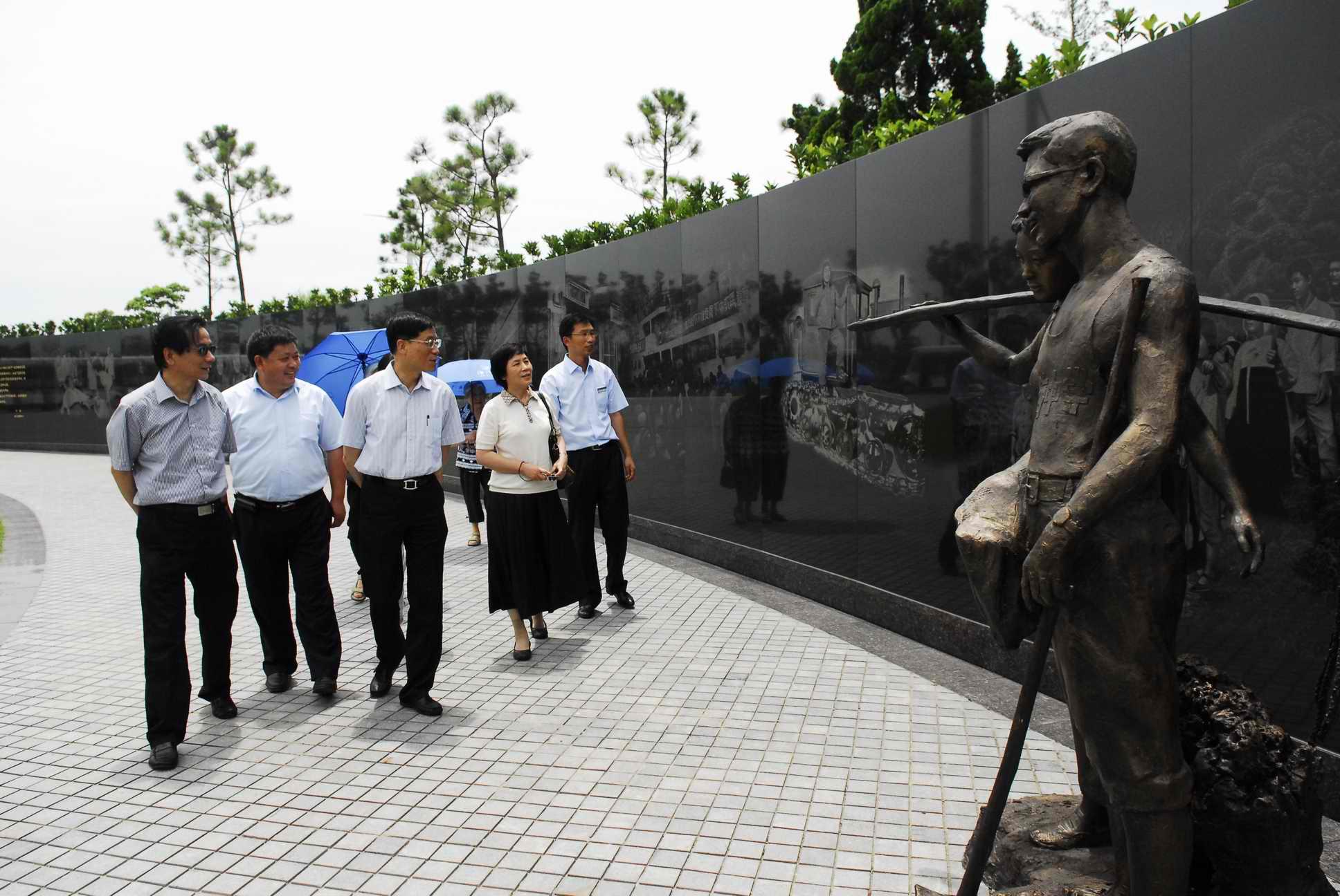 上海市委常委、组织部长沈红光,海湾园,知青广场,知青博物馆